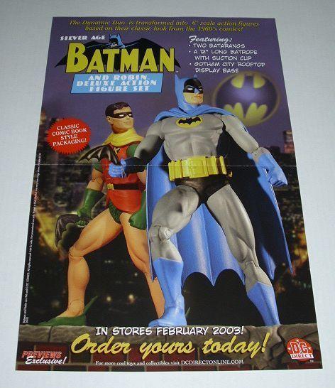 17 x11 DC Direct silver age Batman Robin action figures promo poster 1:DC Comics