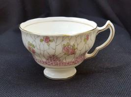 Vintage Adderley 1789 Lawley England Bone China Gilded Pink Floral Tea Cup - $15.00
