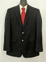 Michael Kors 40R Men's Blazer Jacket Navy Blue 2-Button Wool Blend Sport Coat - $28.50