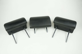 01-2003 bmw x5 e53 rear second row seat headrest leather black set of all 3 - $129.24
