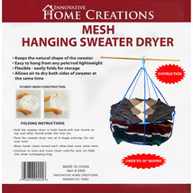 """Innovative Home Creations Mesh Hanging Sweater Dryer-26"""" White - $15.51"""