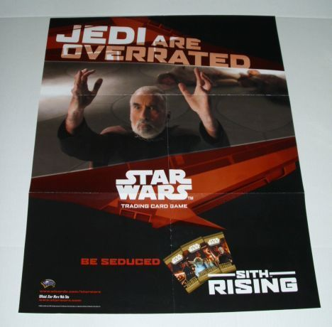 STAR WARS TCG TRADING CARD GAME POSTER:COUNT DOOKU