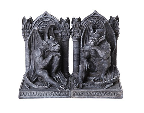 Primary image for Pacific Giftware Gothic Thinker Gargoyle Sculpture Stone Finish Book Ends Set 6.