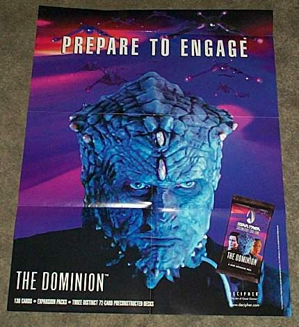 STAR TREK DOMINION CCG COLLECTIBLE CARD GAME POSTER