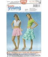 BURDA Young Fashion Pattern #8176-Skirt in Sizes 8-10-12-14-16-18-20 - $4.95
