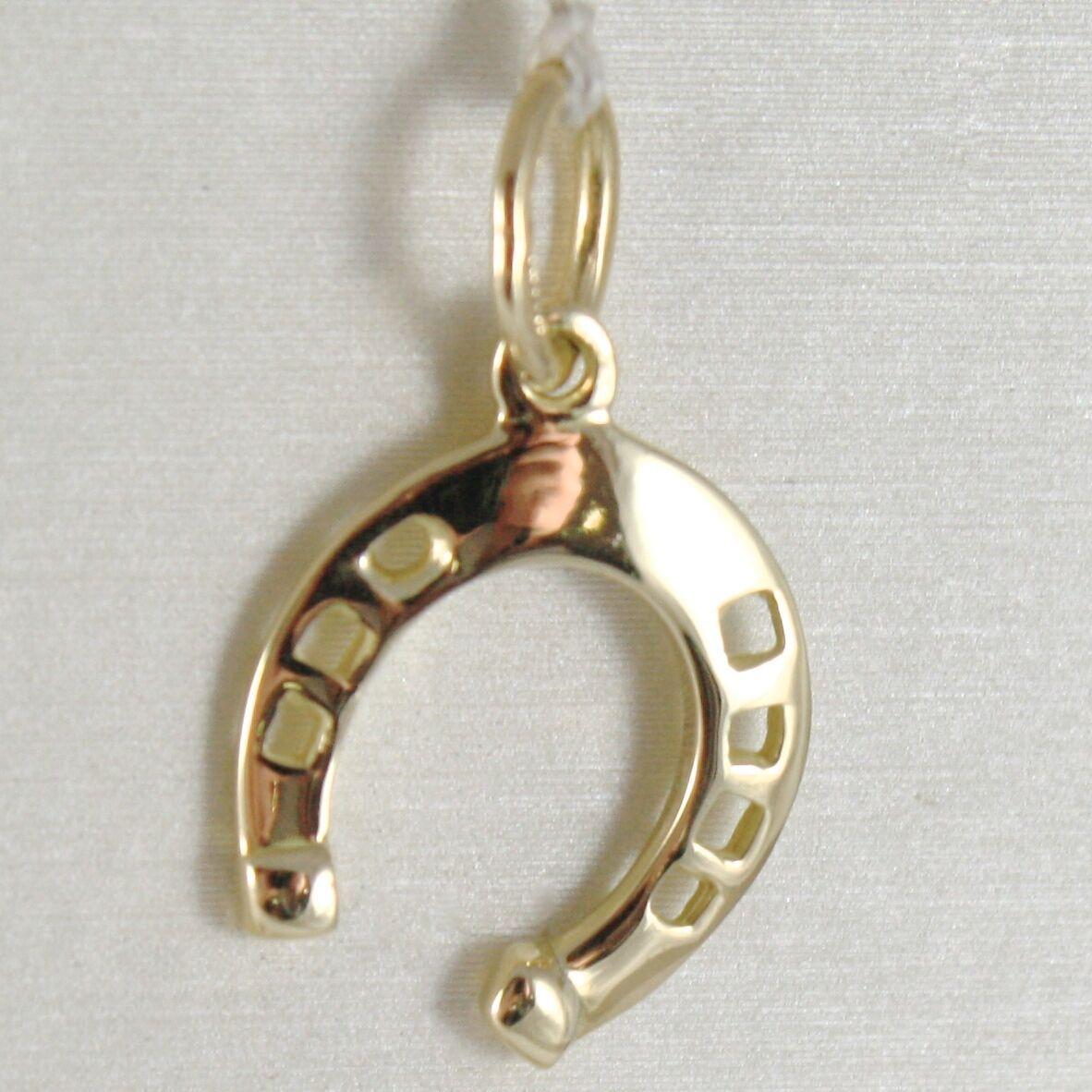 Pendant Gold Yellow or White 750 18k Horseshoe Pendant, 2.1 cm long