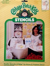 Vintage Cabbage Patch Kids Doll Stencils COLONEL CASEY Stork Delivering Baby - $8.41