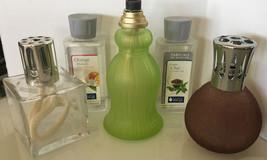 5 Lampe Berger Paris Frosted Green Tassel Fragrance Cashmere Lamp Retire... - $69.29