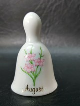 RUSS Berrie Miniature Floral Birthday Mini Bell of the Month August LBEF4 - $5.49