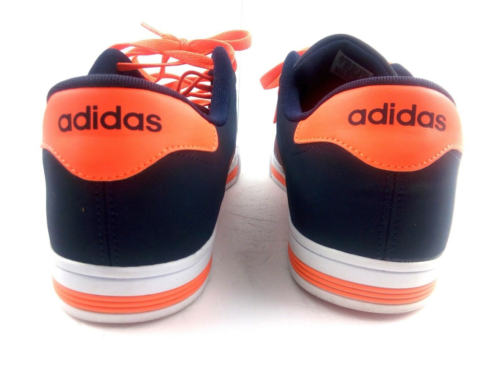 Adidas Men's Sneakers Neo Cloudfoam Daily Team F99628 Blue / Orange Shoes Sz 11
