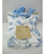 Baby Starters baby blanket security lovey set new white blue sharks Hell... - $29.69