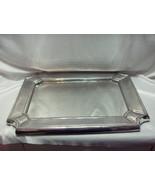 Vintage Sand Cast Aluminum Large Mirrored Tray Rectangular 20 x 15.50 NICE - $173.25