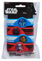 4ct Star Wars Deluxe Darth Vader R2 D2 Chewbacca Storm Trooper Rubber Bracelets image 2