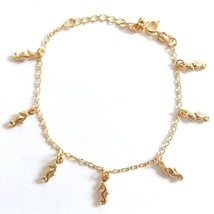 GOLD PLATED QUALITY NICKLE FREE CHARM BRACELET GOLDEN SEAHORSE ADJUSTABLE. - $14.49