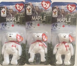 TY MAPLE the BEAR BEANIE BABY - MINT with MINT TAGS - CANADA EXCLUSIVE - $8.90