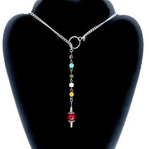 Chakra Necklace/ Pendulum Lariat Necklace Also Can Ben Used For Pendulum - $19.99