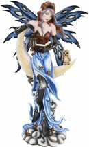 """Pacific Giftware 16.5"""" H Midnight Moon Fairy with Owl Fantasy Art Sculpt... - $59.39"""