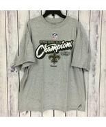 New Orleans Saints T-Shirt Men's Size XL Gray Reebok Super Bowl Champion... - $11.99