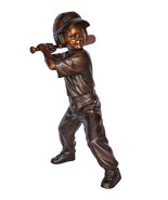 """Girl batting a Baseball in Action Bronze Statue - Size: 20""""L x 21""""W x 40""""H. - $2,700.00"""