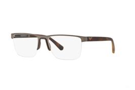 EMPORIO ARMANI Unisex Gunmetal Rectangular Eyeglass Frames EA1084300353 - $88.11