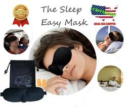 Travel Sleep Eye Mask 3D Memory Padded Shade Cover Sleeping Blindfold Foam - €3,09 EUR+