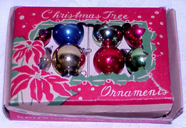 "Vintage 3/4"" Mini Glass Christmas Ornaments IOB Japan # 8 - $12.99"