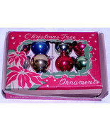 "Vintage 3/4"" Mini Glass Christmas Ornaments IOB Japan # 8 - $12.99"