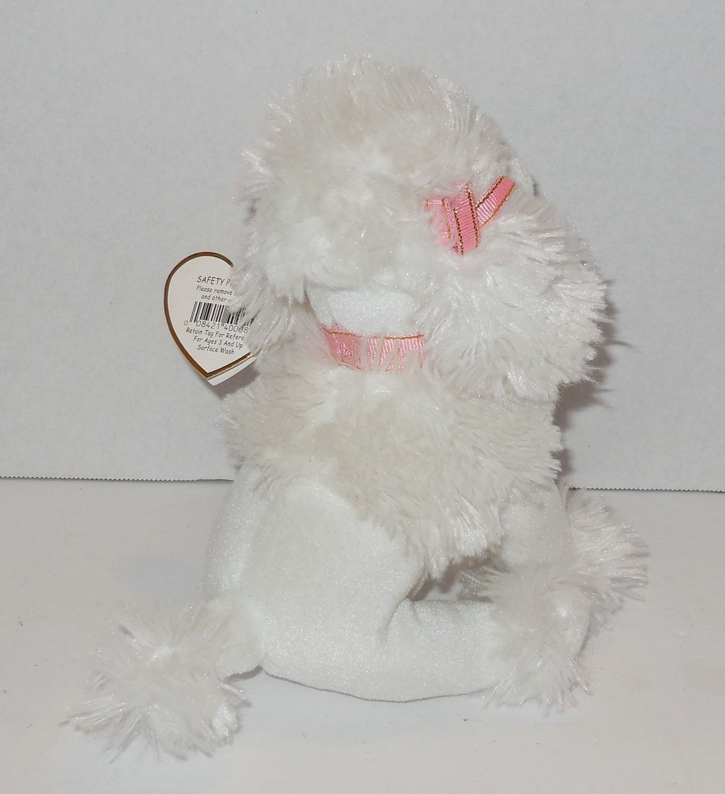 31b0c849eed Pink Poodle Beanie Baby - Parchment N Lead