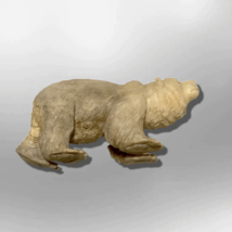 Handmade Bone Carved Full Standing Bear Body No Paint Detailed Table Fetish image 2