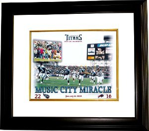 Primary image for Music City Miracle unsigned Tennessee Titans 11x14 Photo Custom Framed