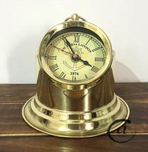 Christmas Victorian Style Clock Small Table Bedside Binnacle Head Clock Home Dec - $36.96