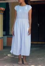 Custom Made Lilac Handmade Linen Maxi Dress - $55.00