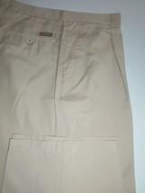 (TA66) Mint Armani Collezioni Ga Ultra Light Silky Cotton Khaki Pants - 34 X 32 - $55.80