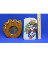 Wooden Baseball Glove Picture Frame & Sports Illustrated Trivia Game Lot... - $15.98