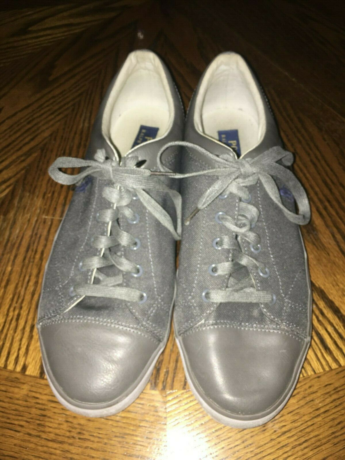 Polo Ralph Lauren Leather Pony Sneakers Size 12D  Grey