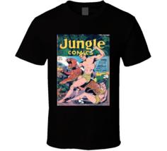 Jungle Comics Cover 1943 Men Alstyle Apparel Men's Black T-shirt - $20.99+