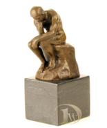 Antique Home Decor Bronze Sculpture shows Thinker Rodin * Free Air Shipp... - $199.00
