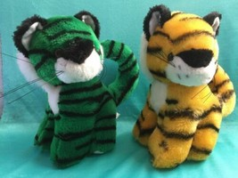 """Yes Club green and yellow cat A & A 7"""" Plush Stuffed Animal Lovey Toy - $12.86"""