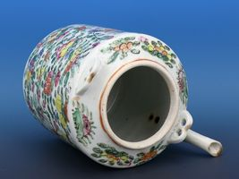 Antique Famille Rose Teapot with no lid or handles... shocking! image 3