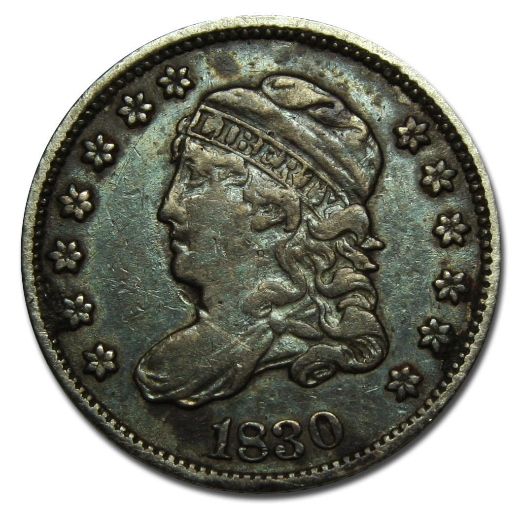 1830 Capped Bust Half Dime 5¢ Coin Lot# C 42