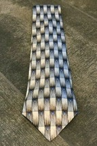 GRATEFUL DEAD MENS TIE BLUE AND GRAY GEOMETRIC BODY AND MIND 4 X 58 inches - $15.96