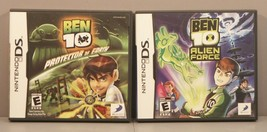 Ben 10: Protector of Earth and Alien Force (Nintendo DS, 2007) Both **Co... - $49.95