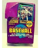 1991 Score Major League Baseball Series 2 Player Baseball Cards 25 Packs - $24.99