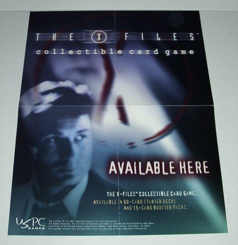 1997 THE X-FILES CCG COLLECTIBLE CARD GAME SHOP POSTER Bonanza