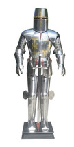 Medieval wearable knight crusader full suit of armor templar with sword ... - $722.70
