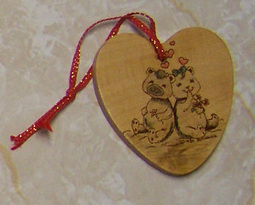Primary image for Heart Bears Holiday Christmas Tree Ornament Love Cute