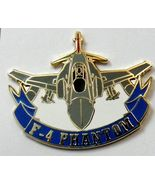 MCDONNELL DOUGLAS F-4 PHANTOM AIRCRAFT CUT-OUT LAPEL PIN 1.25 inches - $4.94