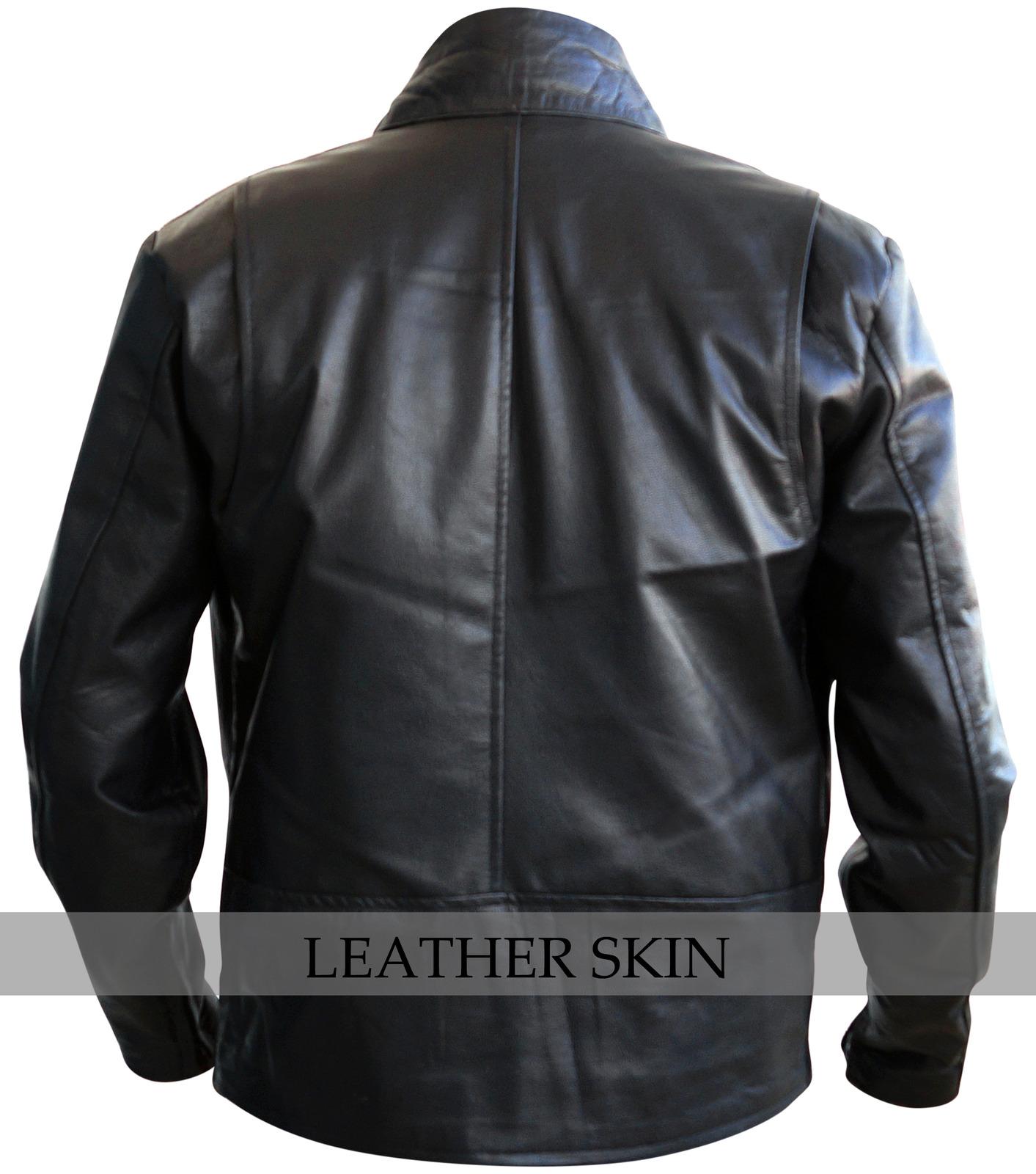 NWT Black Iron Man Fashion Stylish Sexy Premium Genuine Leather Jacket -All Size image 2