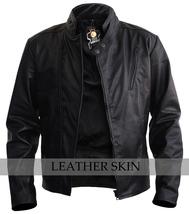 NWT Black Iron Man Fashion Stylish Sexy Premium Genuine Leather Jacket -All Size image 1