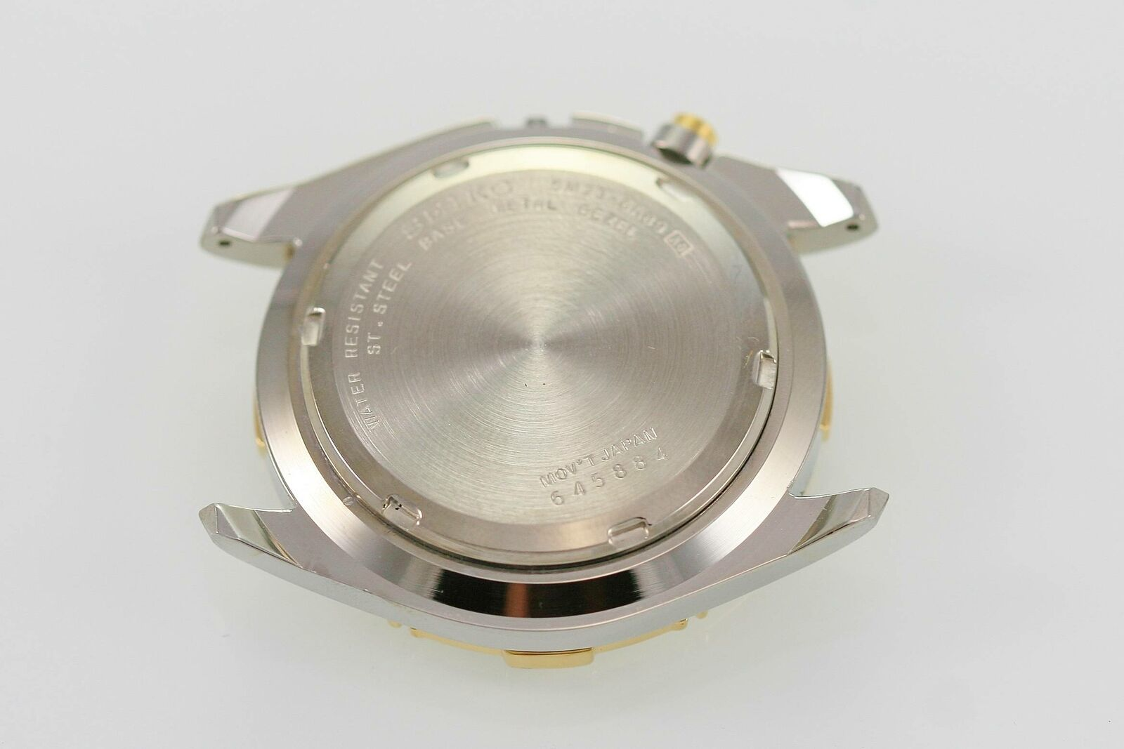 Brand New Seiko Kinetic Men's Silver Gold Watch Case Stainless 5M23 MVT